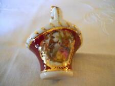 Vintage Miniature Basket, Trinket Dish or Salt Dish. Goudeville Limoges France