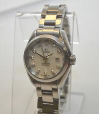 Ladies Omega Seamaster Aqua Terra Silver Diamond Dial 30mm Quartz Watch $4,150