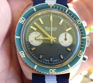 Vintage 1970 Bulova Deep Sea 666ft Chronograph