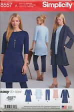 SIMPLICITY SEWING PATTERN 8557 MISSES 4-26 PANTS DRESS TUNIC DUSTER - PLUS SIZES