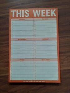"""This Week"" planning note pad"
