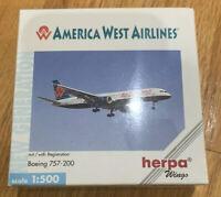 Herpa Wings America West Airlines Boeing 757-200 1/500 SCALE