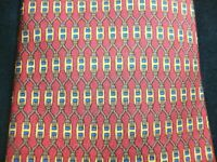 EUC Hermes Paris 100% Silk 7199 UA Rusty Red Linked H Logo Made in France Tie