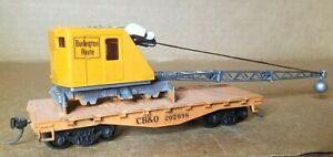HA5 HO Scale Train Box Car CREAM ORANGE MOW CB&Q BURLINGTON KADEES CRANE 324e