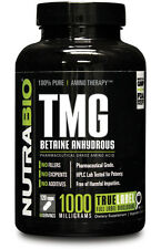 NutraBio TMG 120 capsules - TrimethylGlycine - Betaine Anhydrous -  100% Pure