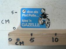 STICKER,DECAL GAZELLE DOE ALS PIET PELLE KIES EEN GAZELLE FIETS CYCLING A
