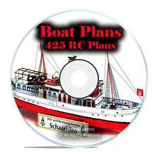 425 RC Remote Control Model Boat Plans, Speedboats, Tugboats, Sailboats DVD I20