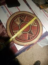 Africa? Coiled Basket Flat Wall Hanging Weaving Home Decor