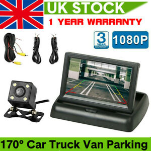 Car Rear View Reversing Camera Kit HD Monitor Parking Night Vision Van Bus Truck