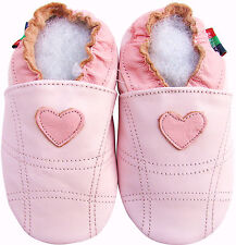 shoeszoo soft sole leather toddler shoes pink heart 2-3y S