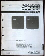 Yamaha VR3000 VR5000 Guitar Amplifier Original Service Manual Schematics Booklet