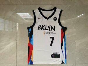 New 21Brooklyn Nets #7 City Edition White Jersey Size: S-XXL