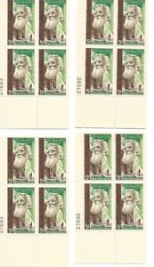 1964 5-cent stamps John Muir Conservationist 4 partial sheets of 4