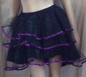BLACK & PURPLE  TUTU SKIRT FANCY DRESS. DISP UK
