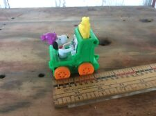 Vintage Plastic Toy Car Snoopy On A Piano