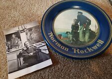 Norman Rockwell Looking Out To Sea Destiny Art Tin Plate & Karsh Ottawa Postcard