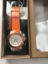 Timberland QT7129304 Sport Men's Wrist Watch Orange Rubbers Band (New With Tags)