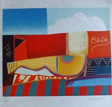MAX PAPART Guitare HAND SIGNED NUMBERED 1989 Guitar LITHOGRAPH ON JAPON Cubism