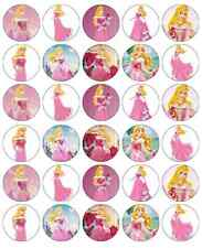 30 x Princess Aurora Disney Edible Cupcake Toppers Paper Fairy Cake Topper