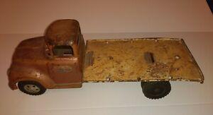 Vintage 50/60? Pressed Steel Toy Tonka Truck for parts or restoration.