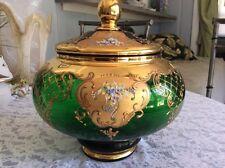 Bohemian Art Glass Punch Bowl