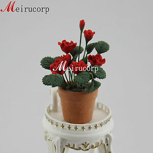 Fine 1/12 scale miniature beautiful well made grand red flower for dollhouse