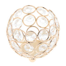 Crystal Beads Candle Holder Banquet Candlestick Table Centerpiece-Golden