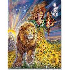 Leo Star Sign Josephine Wall Leanin Tree Beautiful Birthday Greeting Card
