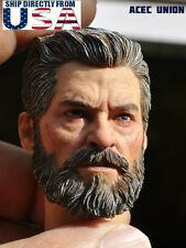 IN STOCK 1/6 Wolverine Head w/ neck Old Hugh Jackman For Logan X-men USA