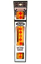 Incense Burner Stick Holder Ash Catcher Wood Resin Orange 10.5 inches Long
