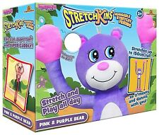 STRETCHKINS PINK & PURPLE BEAR HUGGABLE SOFT AND VERY STRETCHY AGE 3+ 1.5m HIGH!