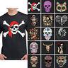 Skull Men's T Shirt Day of the Dead Sugar Skull Shirts Dia de los Muertos