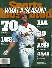 10/07/1998 MARK McGWIRE BASEBALL Records Sports Illustrated NEWS STAND ISSUE