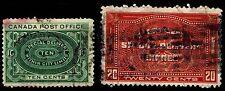 1898-1932 Canada #E1 & E5 Special Delivery - Used - Vf - $27.00 (Esp#2299)