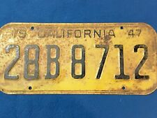 1947 californian number plate