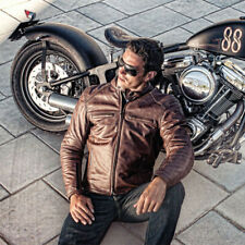 Furygan Vince Retro Leather Motorcycle Jacket - Brown Size XL  (Harley,Crusier)