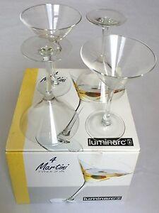 Set of 4 Luminarc Martini Glasses 7 1/4 oz Made in U.S.A. - New in Box