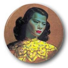 "TRETCHIKOFF CHINESE GIRL - 25mm 1"" Button Badge - Kitch 70's Novelty"