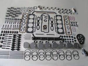 Deluxe Engine Rebuild Kit 58 59 60 Mercury 383 V8 NEW 1958 1959 1960 w/ pistons