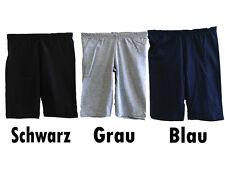 Damen Radlerhose kurze Hose schwarz blau grau Baumwolle Gr. S M L XL XXL NEU!!!