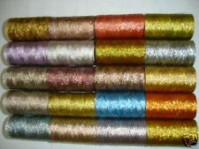 20 Multi Metallic Embroidery Thread spools 400 Meters EACH, 20 Colours