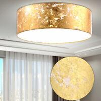Design Hänge Leuchte Textil Schirm Wohnzimmer Pendel Lampe grau Big Light