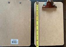 Set Of 6 Hardboard Clip Boards Memo Size 6 X 9
