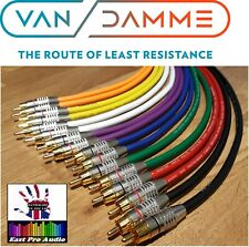 Van Damme RCA CABLE PAIR Silver Plated OFC - PRO GRADE multi listing