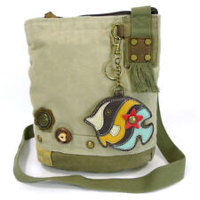 Patch Crossbody Bag - Tropical Fish Detachable Key Fob / Coin Purse (Sand)