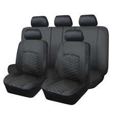 Delax Universal Sporty Car Black PU Leather Seat Covers Fit Universal Car