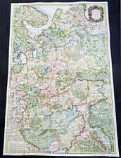 1712 Senex Large Original Antique Map of Europe Russia, Moscow - Finland to Azov