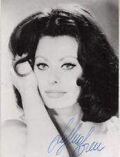 """Auth.Autograph """"Sophia Loren"""" Photo-  w/coa"""