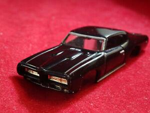 MoDEL MoToRING 69 Black Pontiac GTO T-jet HO Scale Slot Car Body Aurora RRR
