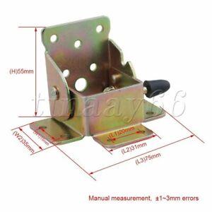 4x Table Foldable Supports Folding Table Leg Brackets Fittings Self Lock Hinge